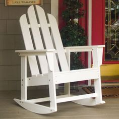 Polywood® Recycled Plastic Long Island Adirondack Rocking Chair