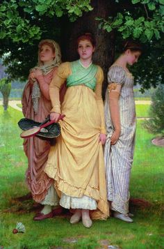A summer shower, 1888 by Charles Edward Perugini