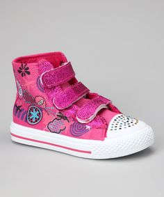 $8.00 sneakers.. what a bargain!!!  Fuchsia Star-06 Hi-Top Sneaker @zulily today!