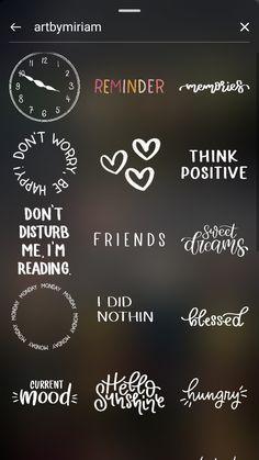 Instagram Words, Instagram Emoji, Iphone Instagram, Instagram Frame, Insta Instagram, Instagram Story Template, Instagram Story Ideas, Instagram Quotes, Instagram Editing Apps