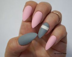 Falso Pastel rosa Stiletto Nails uñas Rosa por FifeFantasiNails