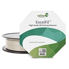 Voltivo ExcelFil PLA Ocean Blue 1.75mm 3D Printing Filament (1kg/2.2lbs spool) ** Continue to the product at the image link.