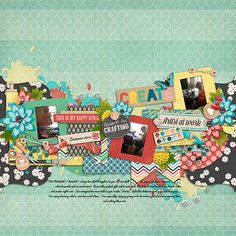 Template: Let it Slide by Little Green Frog Designs  Kit: My Happy Space by Traci Reed and Digilicious Design