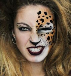 Perrie Edwards the Cheetah - Halloween Makeup Ideas