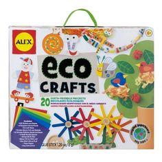 Duurzaam knutselen met deze bio crafts set van Alex. Alles van gerecycled materiaal en soja kleurstoffen. €8,95 #sintkado