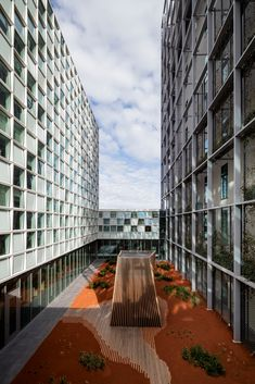See schmidt hammer lassen's new International Criminal Court, the 2016 AIA COTE Top Green Projects, and the Berkeley Prize winning essays La Haye, Engineering Consulting, The Hague, Schmidt, Cladding, Netherlands, Architecture Design, Stairs, Landscape