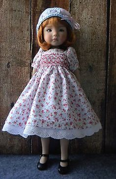 Cute-Smocked-Dress-for-Effner-Little-Darling-13-doll-by-lkb. SOLD for $46.00 on4/12/15