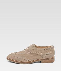 Drievholt nude Brogue beige shoes
