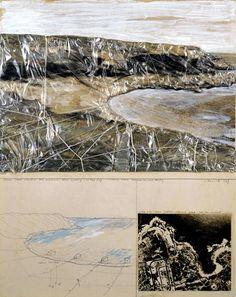 Packed Coast (Project for Australia near Sydney - Little Bay) Christo and Jeanne-Claude Sydney, Bulgaria, Paris In October, Christo And Jeanne Claude, Art Alevel, A Level Art, Environmental Art, Australia, Funny Art