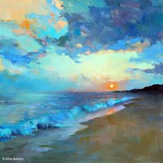 Summer Sunset by Trisha Adams Oil ~ 30 x 30