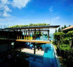 FISH HOUSE: CASA SUSTENTÁVEL E EXÓTICA EM SINGAPURA   arquiteto