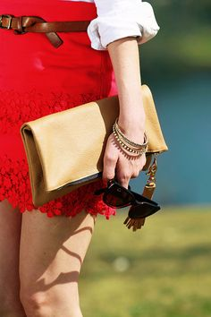 Sarah Vickers of Classy Girls Wear Pearls with our Brooklyn Foldover in Camel! http://www.kslademade.com