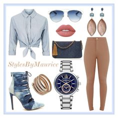 """""""Ladies Fashion"""" by mauricee-brewer on Polyvore featuring Topshop, Christian Dior, Michael Kors, Stephen Dweck, Lime Crime, Roberto Coin and Chico's"""