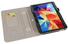i-BLASON Samsung Galaxy Tab 4 10.1 Case - Leather Book (Elastic Hand Strap, Multi-Angle, Card Holder) With Bonus Stylus 3 Year Warranty (Black): Amazon.com.mx: Electrónicos
