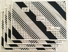 Black and White Quilted Placemats by RoseberryHandmades on Etsy