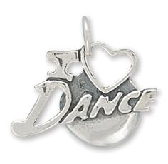 I Love #Dance #Charm. Charm measures 15x15.5mm. .925 #SterlingSilver