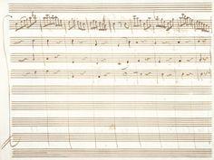 Wolfgang-Amadeus MOZART (1756-1791) Manuscrit musical autographe pour la Sérénade en ré majeur K.185/167a; 1 feuillet oblong petit in-4 (16 x 21,5 cm) recto et verso (encadré avec portrait et médaillon)… - Ader - 18/06/2015