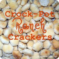 Crock-Pot Ranch Crackers