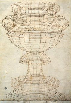 Paolo Uccello - Vase in perspective, early Renaissance.  What does this drawing tell you about the level of realism and perspective that artist of the Renaissance were attempting to reach?