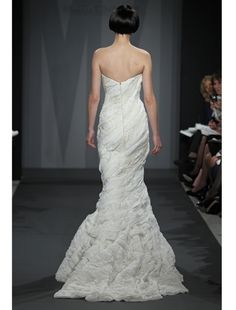 Back: Mark Zunino Mermaid Wedding Dress with Sweetheart Neckline and Asymmetric Waist Waistline