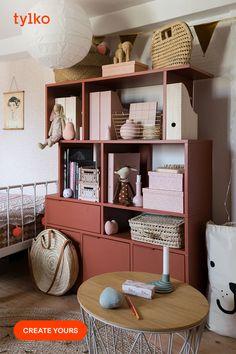 Bookshelves, Bookcase, Vinyl Shelf, Master Bedroom Design, Red Aesthetic, Wall Storage, Particle Board, Scandinavian Style, Classroom Decor