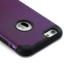iPhone 6S Case , iPhone 6 Case , Alkax Rugged Heavy Duty Defender Slim Fit Armor Dual Layer Hybrid Series Shockproof High Impact Protection Cover Bumper for Apple iPhone 6 + 1 Stylus Pen(Dark Purple). Specially designed for iPhone 6S / iPhone 6 with 3D Ac