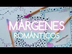 MÁRGENES para PORTADAS de cuaderno y BORDES para CARTAS de amor (Dibujos de San Valentín) - YouTube