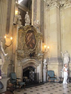 Castle Howard Great Hall Fireplace (Early Baroque built 1699)