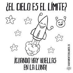 ¿El cielo es el límite? ¡Cuando hay huellas en la luna!