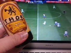 Una cervecita artesanal cortesia de #iZettle para ver ganar al Atleti