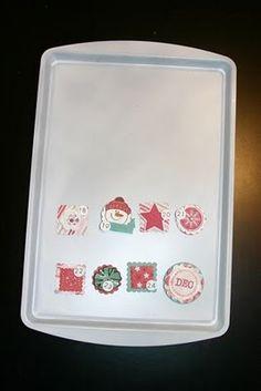 CTMH Jingle Creative Basics - Cookie Sheet Advent Calendar