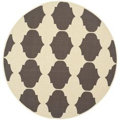 awesome Safavieh Indoor/ Outdoor Courtyard Beige/ Chocolate Rug (5' 3 Round) Check more at http://hasiera.co.uk/s/rugs/product/safavieh-indoor-outdoor-courtyard-beige-chocolate-rug-5-3-round/