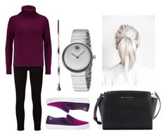 """Untitled #457"" by syshrn on Polyvore featuring Frame, N.Peal, Tory Burch, Michael Kors and Movado"