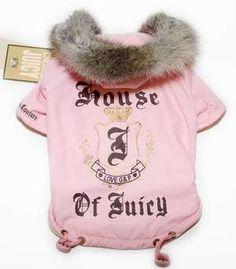Juicy Couture pink dog coat