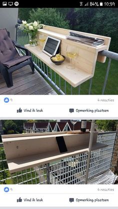 20 Insanely Cool DIY Yard and Patio Furniture - HomeDesignInspired Diy Furniture, Outdoor Furniture Sets, Backyard Furniture, Furniture Projects, Furniture Storage, Apartment Balconies, Apartment Deck, Apartments, Diy Home Decor Projects
