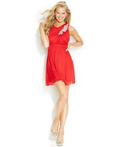 B Darlin Juniors' Rhinestone Embellished Dress (Macy's)