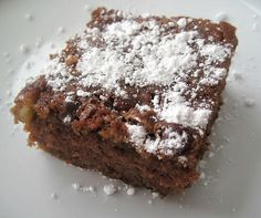 Chocolate Zucchini Cake~  2 cups zucchini (grated)  1 3/4 cup sugar  1/2 cup margarine  1/2 cup oil  1 cup buttermilk  2 eggs  *mix all wet ingredients in a large bowl    2 1/2 cups flour  1 teaspoon soda  1/4 teaspoon salt  1/4 teaspoon cinnamon  1/4 teaspoon cloves  4 tablespoons cocoa  *sift all dry ingredients and combine with wet ingredients    Pour in to a greased/floured 9 by 13 pan. Sprinkle 1/2 cup of nuts and chocolate chips over top of batter.    Cook at 350 degrees for 30-35…