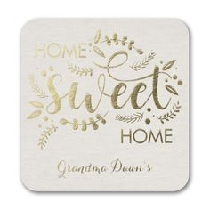 Home Sweet Home - Coaster. Available at Persnickety Invitation Studio.