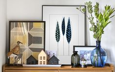 Ideas for making creative displays in each room.