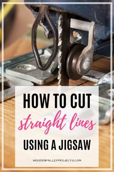 In this article learn about cutting straight lines with a jigsaw. No more second guessing. Cut perfectly straight lines with your jigsaw every time using this simple guide. Woodworking Power Tools, Beginner Woodworking Projects, Fine Woodworking, Best Jigsaw, Rip Cut, Straight Lines, Wood Working For Beginners, Diy Wood Projects, Diy On A Budget
