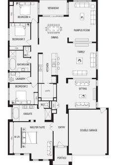Fairhaven, New Home Floor Plans, Interactive House Plans - Metricon Homes - Regional Victoria Beach House Floor Plans, Home Design Floor Plans, Dream House Plans, Victoria House, Dream House Exterior, Sims House, Story House, Big Houses, Dream Rooms
