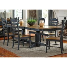 4f50f4d452db6 Springfield Dining 7 Piece Double Pedestal Table   Chair Set by Liberty  Furniture