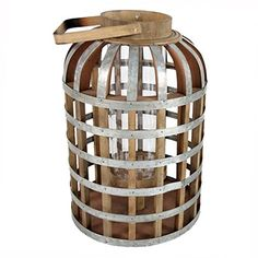AB Home WoodMetal Lantern 114 by 114 by 224Inch * See this great product.