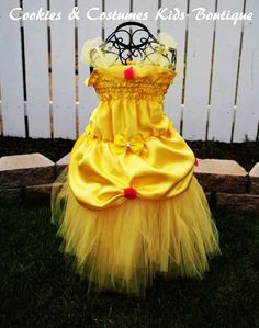 Disney Princess Birthday Outfit | Princess: Inspired by Disney princess Bell costume/ dress For Birthday ...