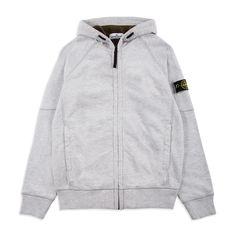 STONE ISLAND JUNIOR Boys Compass Hoodie - Grey Boys hooded sweatshirt •  Soft cotton jersey • 4f71a7716523