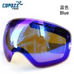 COPOZZ GOG-201 Original Ski Goggles Lens Anti-fog UV400 Big Spherical Ski Glasses Snow Goggles Eyewear Lenses Replacement