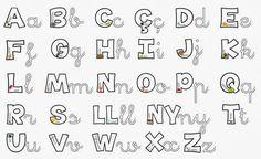 Resultado de imagen de abecedari lletra lligada