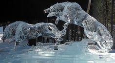 Ice Sculpture (Wolves) - Fairbanks, Alaska 2009, via Flickr.