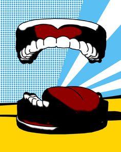 Lisa Booth, Pop Art Teeth. Central Jersey Pediatric Dentistry & Orthodontics - pediatric dentist in East Brunswick, NJ @ www.kiddent.com