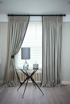 Our design ideas for curtains and blinds will inspire you! Pret a Vivre is the specialist in curtains & blinds interior design, so speak to our team today! Ikea Curtains, Pleated Curtains, Bedroom Curtains, Blinds For Windows, Curtains With Blinds, Window Curtains, Tall Windows, Curtains Living, Bay Window
